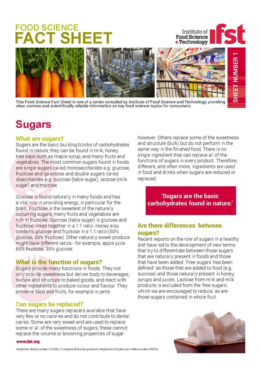 Food Science Fact Sheets | IFST