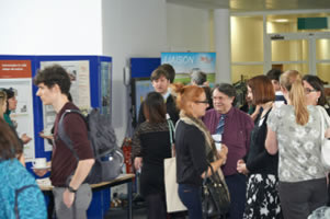 Launchpad - Student viewing the exhibition